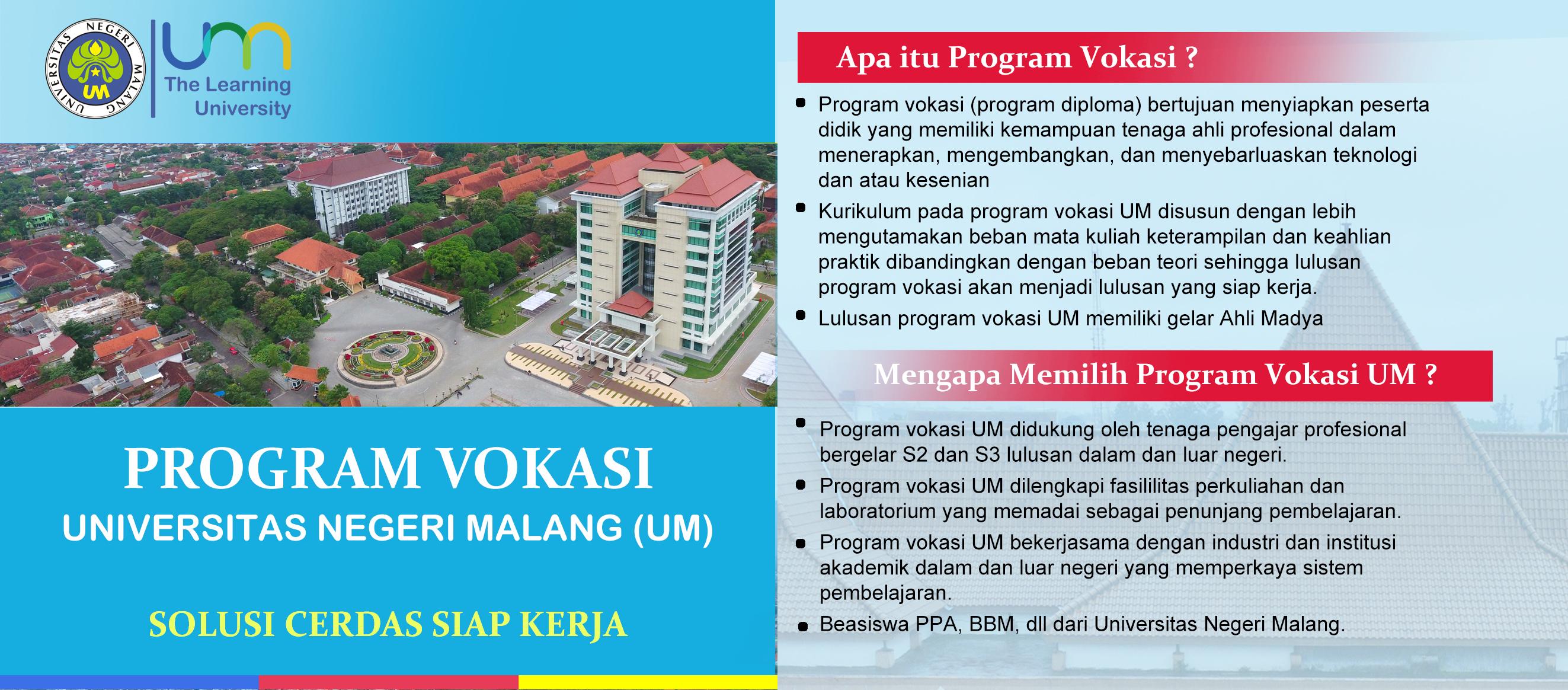 Penerimaan Mahasiswa Baru Program Vokasi (D3)